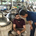 Discussing some distillation tweaks with Yusof.